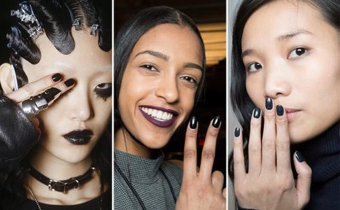 fall winter 2016 2017 nail art polish trends dark manicure2